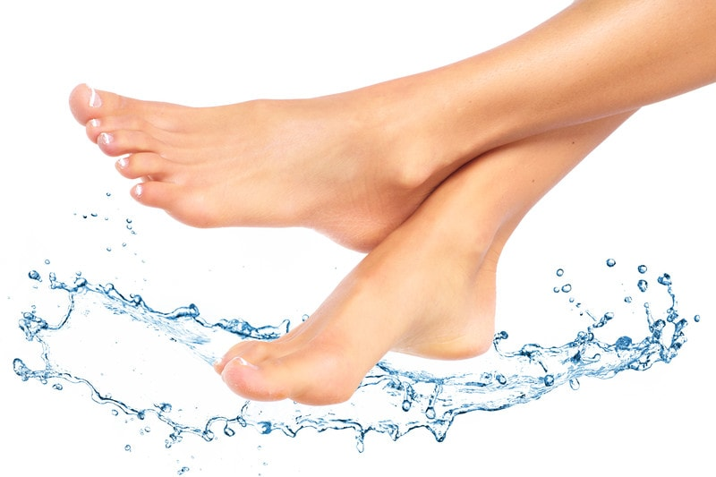 healthy feet with colloidal silver